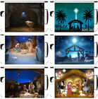 Manger Nativity of Jesus Xmas Star Photo Background 7x5ft 10X8FT Vinyl Backdrop