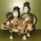 Antique Asian Satsuma Joined Pair of Porcelain Figures from Japan
