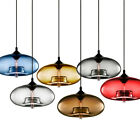 Modern Colored Glass Pendant Lamp Ceiling Light Chandelier Lighting Loft Fixture