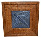 Door Pottery Arts And Crafts Blue Small Dragonfly Ceramic Tile