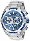 28045 Invicta BOLT SPEEDWAY VIPER HYBRID 50MM Chrono Ice Blue Dial SS Band Watch