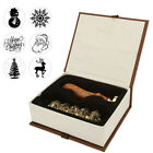 Classical Wax Seal Stamp Metal Stamp Set Brass Head Christmas Blessing CA