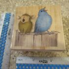 TWO PART HARMONY MW RUBBER STAMP STAMPABILITIES HOUSE MOUSE