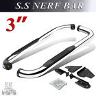 For 1987 2006 Jeep Wrangler TJ YJ 3 Pair Nerf Bars Side Steps Running Boards