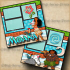 Disney Moana Princess 2 premade scrapbook pages paper layout By Digiscrap A0253