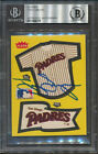 Tony Gwynn Signed Sticker Padres Beckett Authentic Autograph 9779