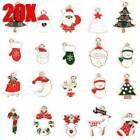 20Pcs Set Enamel Mixed Christmas Charms Pendant For DIY Jewelry Making Crafts