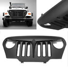 Front Bumper Hood Grille Grill ABS for Jeep Wrangler TJ 1997 2005 2006 Models