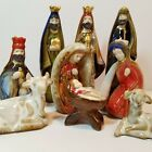 Pottery Nativity Set Vibrant Earthtone Colors Glaze Handpainted Ceramic XMB3