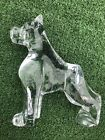Beautiful Baccarat French Crystal Glass Boxer Dog Figurine Sculpture Statue
