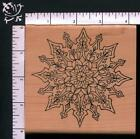 Holly Berry Winter Snow Christmas Snowflake Mandala Medallion WM Rubber Stamp