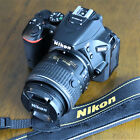 Nikon D D5500 242MP DSLR Camera + 18 55mm Lens + EXTRAS US SELLER