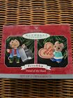 HALLMARK 1998 FRIENDSHIP Friend of My Heart Set of 2 CHRISTMAS ORNAMENTS Vintage