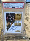 2018 Contenders Mason Rudolph Auto Rookie Ticket PSA 9 Pittsburgh Steelers #125