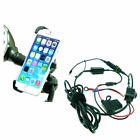 High Power Hardwire Dedicated Bike Scooter Moped Mirror Mount for iPhone 6