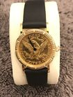 Ladies 24mm Corum 18k and 22k Authentic Coin Watch $5 Gold Liberty 100% Original