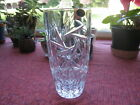 Beautiful Lead Crystal Glass Vase 8 Bohemia Czech Republic Perfect Condition