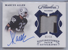 MARCUS ALLEN 2018 PANINI FLAWLESS DISTINGUISHED PATCH AUTO RAIDERS 01 10