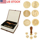 Classical Wax Seal Stamp Metal Stamp Set Brass Head Christmas Party Invitation