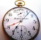 RARE ROCKFORD UP DOWN WIND INDICATOR POCKET WATCH + DUAL TIME ZONE HOUR HANDS