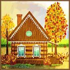 30 Custom Autumn Cabin Personalized Address Labels