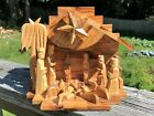 Lovely Lebanon Olive Wood Nativity Scene Music Box Silent Night Handcrafted