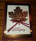 Stampin up card making kit Merry Merlot Maple Leaf Happy Thanksgiving w bow