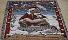 Boyds Bear Throw Twas the Night Before Christmas Tapestry Afghan Kringlebeary