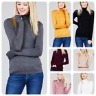 Women Long Sleeve T Shirt Slim Fit Turtle neck Pullover High Tops Casual