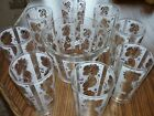 Vintage Culver  22 KT Gold 8 High Ball Glasses and Ice Bucket Set ~ Mint