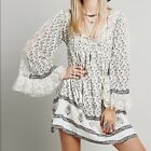FREE PEOPLE WOMENS NOMAD CHILD TUNIC DRESS XS X-SMALL GYPSY FESTIVAL LACE FLORAL