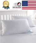Sweet Home Collection Goose Down and Feather Bed Pillow 2 Pack Soft and Comfor