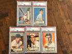 1952 Topps Lot 10 Cards. Mostly Low Grade.