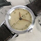 Mens Original 1940s WWII Mido Multifort Luxe SUPER Automatic SS Vintage Watch