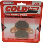 Front/Rear Disc Brake Pads for Keeway Speed 125 2008 125cc  By GOLDfren