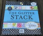 Glitter Stack Paper Pad 42 sheets 12x12 Glittered Cardstock Scrapbook DCWV