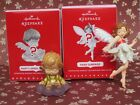 2016 Mary's Angel Surprise RARE GOLD + Fairy Messengers Hallmark Ornament Lot 2