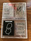 Lot Of Thankful Grateful Fall Themed Stamps  Dies New