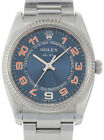 Rolex Air-King Stainless Steel Blue Dial Mens Automatic Watch M 114234