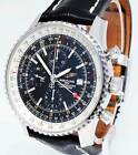 Breitling Navitimer World GMT Chronograph Steel 46mm Watch Box/Papers A24322