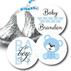 108 Baby Boy Teddy Bear Baby Shower Hershey Kiss Stickers Party Favors
