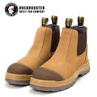 ROCKROOSTER Safety Work Boots Mens Shoes Steel Toe Anti static Slip On Boots