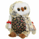 TY Beanie Baby - SMARTY the Graduation Owl (w/Green Chest & No Hat version) MWMT