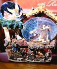 Kirkland Snow Globe Nativity Bethlehem Revolving Base with 3 Waterglobes Musical