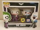 Funko POP! Joker Gemini Collectibles Exclusive GLOW IN DARK 2 Pack Dark Knight