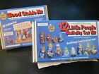 VTG Wee Crafts 12 pc Little People Paintable Nativity Set  Nativity Stable Kit