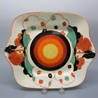 Clarice Cliff pottery hand painted Bizarre Fantasque House and tree cake tray
