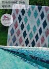 Diamond Sea Quilt Kit 55 x 70 Pattern Fabric for Top and Binding by Majestic Bat