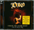 Dio Finding The Sacred Heart CD Live Philly 1986 Hype Sticker Ronnie James Dio