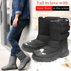 Mens Waterproof Winter Snow Boots Warm Fur Lined Outdoor Work Ski Hiking Shoes